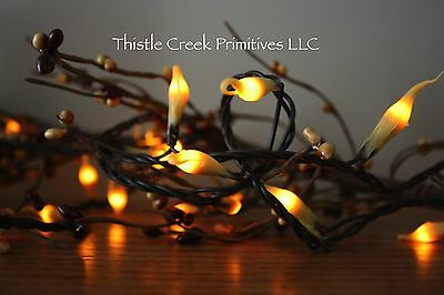 20 Count Country Lights Strand Dipped Silicone - Brown Cord