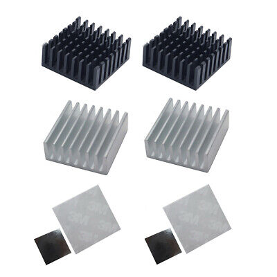 25*25*10mm Anodize Aluminium Heatsink And Double-sided Thermal Adhesive Tape Set