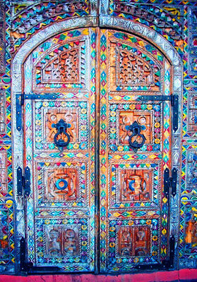 Moroccan Door Design  Wall Art * Large A3 Size Quality Canvas Art Print