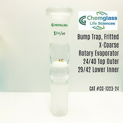 Chemglass® Bump Trap, # CG-1323 Fritted, X-Coarse, Rotary Evaporator, 24/40 Top