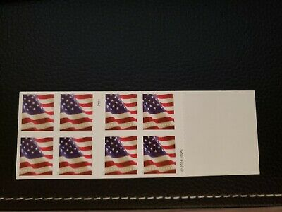 ONE BOOK OF 20 U.S. FLAG USPS FIRST CLASS FOREVER POSTAGE STAMPS / Damaged