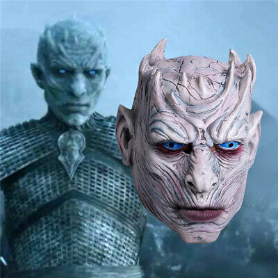 Game of Thrones Night's King Latex Mask White Walker Party Cosplay Props