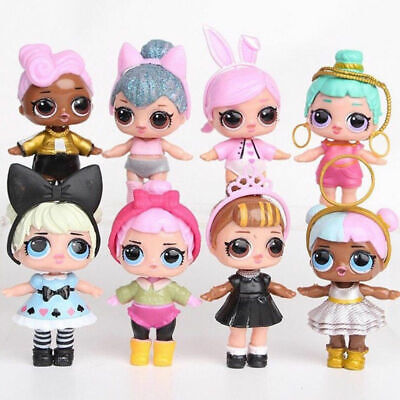 8Pcs LOL Surprise Doll Lil Sisters Cute Girl Baby Figure Toys 1.5inch Fun Toy