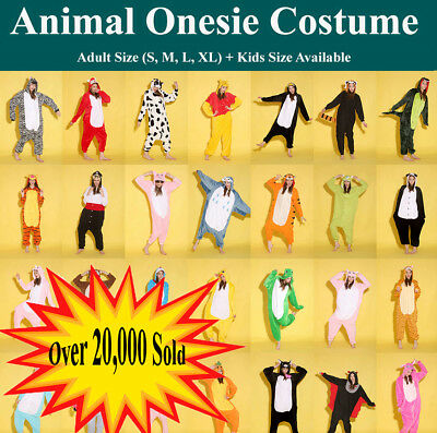 Soft Adult Kids Fleece Unisex  onesie Kigurumi Animal Pajamas Costume Sleepwear