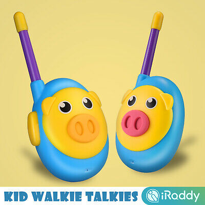 2x T-388 Toy Walkie Talkie 22CH Kid Two Way RadioBlue 3 Miles Built in Flash