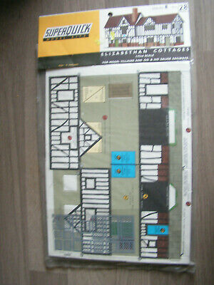 OO Gauge SUPERQUICK TWO ELIZABETHAN COTTAGES B28 KIT Parts & Accessories