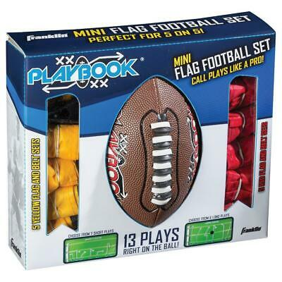 Franklin Sports Mini Playbook Flag Football Set Team Player Game Outdoor Play