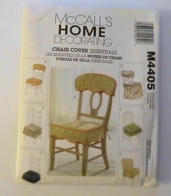 8773 UNCUT McCalls SEWING Pattern Chair Essentials Futon Cover Home Decor OOP FF