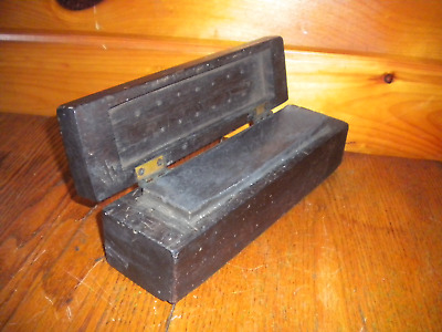 Vintage SHARPING STONE with Original Handmade Carry Box