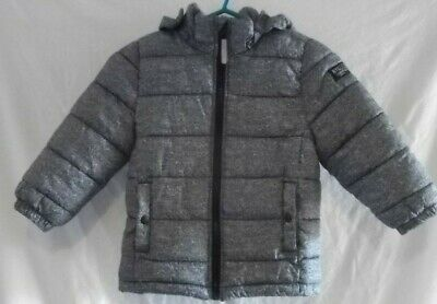 Childs Padded Coat, Detachable Hood, H&M, Size 3-4 Years (Eur 104), Preowned