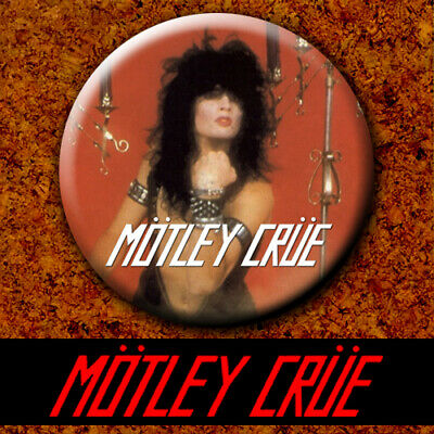 Motley Crue - Tommy 1981 New Badge Button Chapa Pin 38mm The Dirt