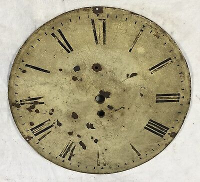 """Lovely Antique Clock Dial Fusee Wall Clock 12"""" In Diameter"""