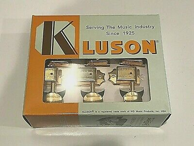 Kluson Traditional 6 Inline Locking Tuners Kdl-6B-Gmdr  With Oval Buttons Gold
