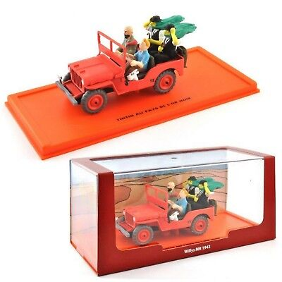 Voiture Tintin 1/43 Serie 2 Atlas N°1 Jeep Willys 1943 Pays Or Noir Neuf Emballe