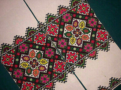 Beautiful Vintage Embroidered Ukrainian folk towel rushnik handmade №1037