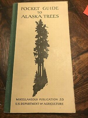 Antique 1929 & 1950 Alaska TREE GUIDES & Map * Forest