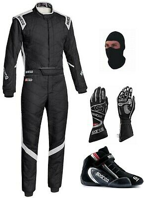 Sparco Go Kart Racing Suit- Cik/Fia Level Ii Approved With Shoes And Gloves