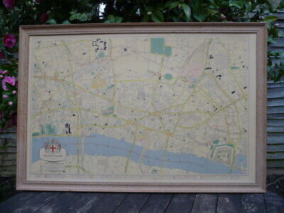 The City of London Vintage Map by Phylllis Pearsall : GEOGRAPHER'S MAP COMPANY