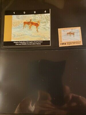 Canada 1994 Ontario Fish & Wildlife Conservation Stamp -  MNH - 2 Stamps - ON02