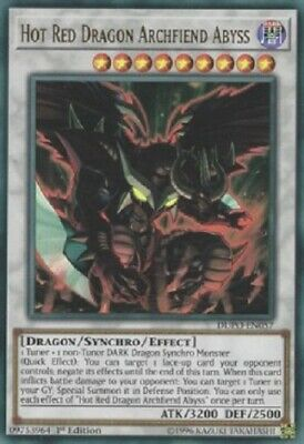 YUGIOH!! Hot Red Dragon Archfiend Abyss DUPO-EN057! Ultra Rare! NM! 1. Edition!