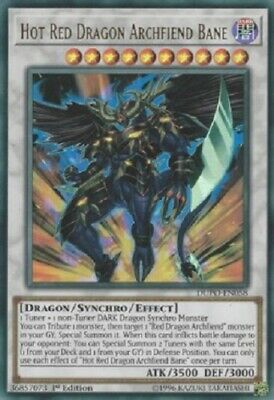 YUGIOH!! Hot Red Dragon Archfiend Bane DUPO-EN058! Ultra Rare! NM! 1. Edition!