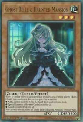 YUGIOH!! Ghost Belle & Haunted Mansion DUPO-EN078! Ultra Rare! NM! 1. Edition!