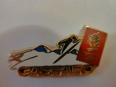 Pin's Jeux Olympiques  Alberville 92  /  Gaspard  /  Superbe