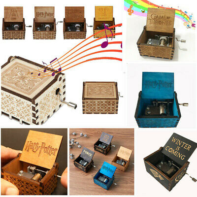 Wooden Music Box Game of Thrones/Beauty and the Beast/Harry Potter Engraved Gift