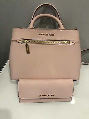 6bee763296e9 Michael Kors Hailee satchel leather bag and matching wallet in Blossom  (color)