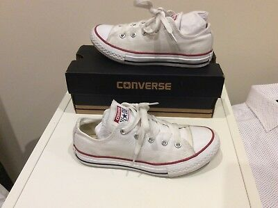 Converse All Star Unisex Boy,Girl,Trainers White, VGC ,Size UK, 13, Rrp £45