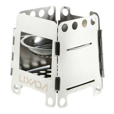 Folding Stainless Steel Wood Stove for Outdoor Camping Cooking Picnic O6I6