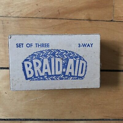 Vintage Braid-Aid 3 Way Fabric Folders/Rug Braiding Tools W/ Instruction Book