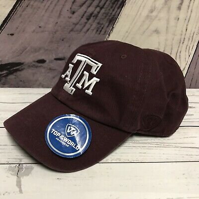 new product 2fd55 d147d Texas A M Aggies Maroon Adjustable Dad Hat Top of the World Cap New