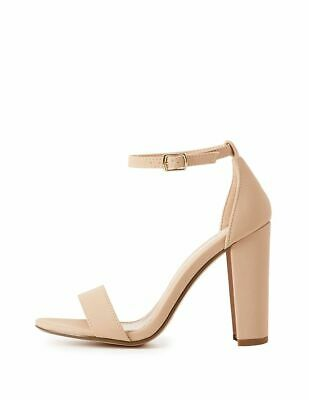 4a34b2466b Charlotte Russe Womens Size 11 Becca Nude Matte Block Heel Ankle Strap  Sandals
