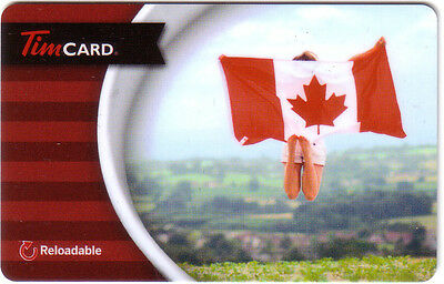 Tim Horton Gift Card Canada Flag No Value ---0---balance