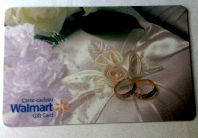 WalMart WEDDING RING RECHARGEABLE Gift Card Collectible Only fd51562