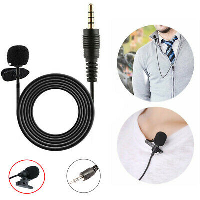 3.5mm Clip on Mini Lavalier Mic Lapel Hands Free Wired Condenser Microphone Mic
