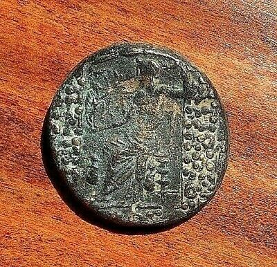 Authentic Ancient Greek AE24 Bronze coin of Syria, Antioch under Rome.