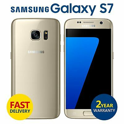 SAMSUNG GALAXY S7 - 32GB -  Gold Platinum - GSM Unlocked 4G LTE Mobile Phone A++