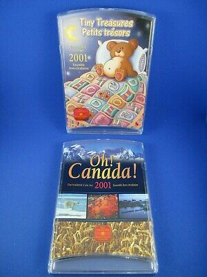 2001 Unc Coin 2 Set. Oh! Canada! and Tiny Treasures. ROYAL CANADIAN MINT