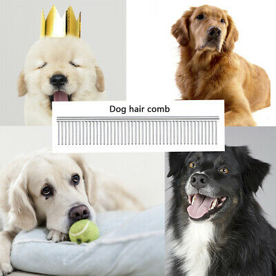 Stainless Steel Pets Comb Hair Brush Shedding Flea Cat Dog Trimmer New Grooming
