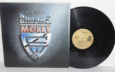 CHROME MOLLY Angst LP UK Pressing 1988 IRS Records Hard Rock Heavy Metal Vinyl