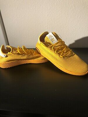 86a48d909 Adidas Pharrell Williams Tennis Hu Mens Size 12 Solid Gold CP9767 Authentic