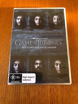 Game Of Thrones The Complete Sixth Season (R) 5 Disc DVD Set Pal Like New