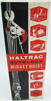 Haltrac Autolock Midget Hoist for Lifting Light Engine/Gearboxes Made In England