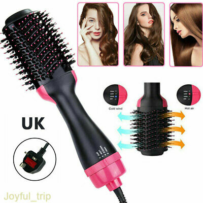 3 In 1 Electric Pro Hair Dryer Brush Straightener Curler Hairdryer Comb Styling