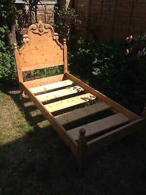 Antique Pitch Pine 'Knock Down' Single Bed