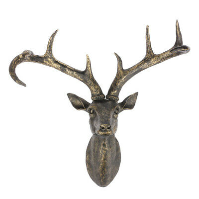 Wall Mounted Animal Heads Stag Deer Garden Ornament Resin Home Decorations UK