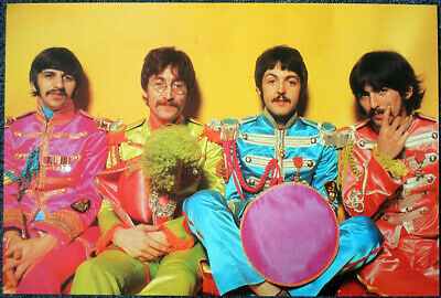 The Beatles Poster Page 1967 Sgt Pepper Lp Album Cover Photoshoot . 7V