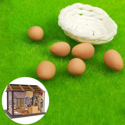 A basket with 6x Egg Toy RE-ment Food For Dollhouse Miniature 1:12 Kitchen Food